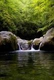 Great Smoky Mountains parka narodowego dziury Midnight spadki Fotografia Stock