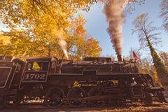 Great smoky mountains rail road autumn season excursion stock image