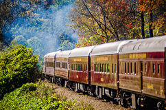 Great smoky mountains rail road train ride Stock Images