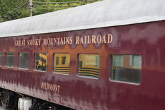 Great Smoky Mountains Railroad in Bryson City, North Carolina. USA Royalty Free Stock Photos