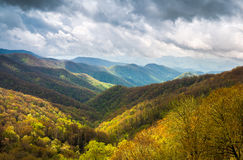 Great Smoky Mountains utomhus sceniskt landskapfotografi Cher Arkivfoton