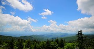 Great smoky mountains view. Day or morning timelapse.