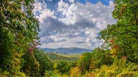 Great Smoky Mountains Vista imágenes de archivo libres de regalías