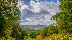 Great Smoky Mountains Vista. Autumn vista along Roaring Fork Motor Nature Trail, Great Smoky Mountains National Park Royalty Free Stock Images