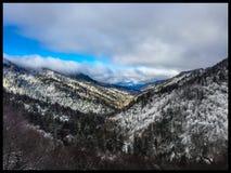 Great Smoky Mountains. White Christmas Day Stock Image