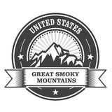 Great Smoky Mountains znaczek Fotografia Stock