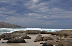 Great Southern Ocean: Rocky Landscape stock photography