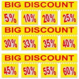 Great special discount percentage on perforated paper Stock Image