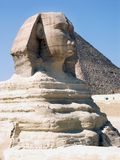 The Great Sphinx. And the Great Pyramid of Khufu (Cheops Royalty Free Stock Photography