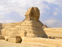 The Great Sphinx of Giza. Is a large half-human, half-lion Sphinx statue in Egypt Stock Image