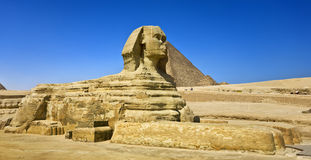 The Great Sphinx of Giza. Egypt. Cairo - Giza. The Sphinx. The Pyramid Fields from Giza to Dahshur is on UNESCO World Heritage List Royalty Free Stock Photo