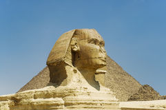 Great Sphinx of Giza. Great Sphinx statue in Egypt on Giza Plateau one of world�s largest and oldest statues royalty free stock images