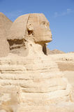 The Great Sphinx of Giza (Egypt). The Great Sphinx is to the northeast of Khafre's (Chephren) Valley Temple Royalty Free Stock Photography