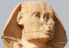 Great Sphinx of Giza. Father of Dread, commonly referred to as the Sphinx of Giza is a limestone statue of a reclining sphinx, a mythical creature with the body Stock Photography
