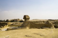 The Great Sphinx in Giza. Landscape Stock Photography