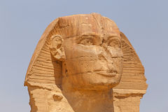 Great Sphinx in Giza. Head of Great Sphinx in Giza, Egypt Stock Photo