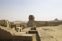 The Great Sphinx in Giza. Landscape Royalty Free Stock Images