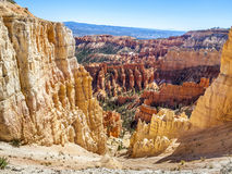 Great spires carved away by erosion in Bryce Canyon National Par Royalty Free Stock Image