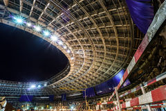 Great sport stadium construction. Lunary arena renovation, Moscow, Russia Stock Photos