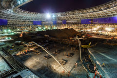 Great sport stadium construction. Lunary arena renovation, Moscow, Russia Stock Photo