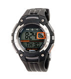 Great sport wristwatch. Modern design with digital panel Royalty Free Stock Photo