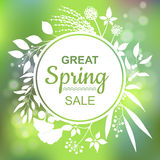 Great spring Sale Banner. Vector Colorful Illustration Stock Photography