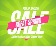 Great spring sale design. Stock Image