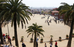 Great square of Park guell Royalty Free Stock Photos