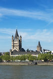 Great St. Martin Church in Cologne, Germany Royalty Free Stock Photos