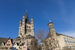 Great St. Martin Church in Cologne, Germany Stock Photo