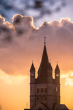Great St. Martin Church in Cologne Royalty Free Stock Images