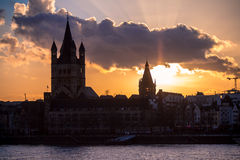 Great St. Martin Church in Cologne stock image