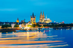 Great St. Martin Church And Dom In Cologne At Royalty Free Stock Photo