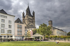 Great St. Martin Church tower in Cologne Stock Photo