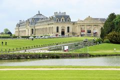 Great Stables of the Chateau de Chantilly, France Stock Image