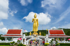 The Great standing Buddha image. Locate in Hat-yai district, Songkhla Province, southern of Thailand Stock Photos