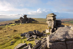 Great staple tor. Dartmoor national park Devon Uk Royalty Free Stock Photo