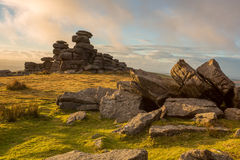 Great Staple Tor. Dartmoor national park Devon Uk Royalty Free Stock Images