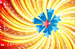 The Great Stars. Eight stars at the middle of a swirling rays. Eight is considered lucky in chinese culture :p Stock Photos