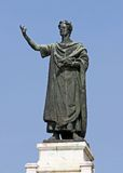 Great statue of the famous poet Virgil. Huge statue of the famous poet Virgil in the Center in the city of Mantua in Italy stock photos