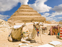 Great step pyramid of Djoser. The first pyramid, built 4700 years ago in Saqqara. Egipt series Royalty Free Stock Image