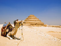 Great step pyramid of Djoser royalty free stock photos