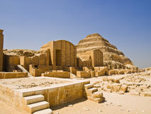 Great step pyramid of Djoser. The first pyramid, built 4700 years ago in Saqqara. Egipt series Stock Photo