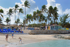 Great Stirrup Cay, Bahamas. Great Stirrup Cay in the Bahamas, a private island Royalty Free Stock Photos