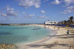 Great Stirrup Cay, Bahamas, Carribean. Great Stirrup Cay-private beach, Bahamas, Carribean Royalty Free Stock Photos