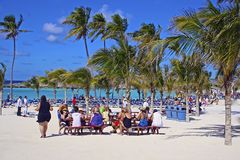 Great Stirrup Cay beach - Bahamas Royalty Free Stock Images