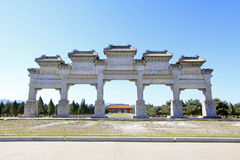 The Great Stone arch in the Eastern Royal Tombs of the Qing Dyna Stock Image