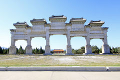 The Great Stone arch in the Eastern Royal Tombs of the Qing Dynasty, china. ZUNHUA - MAY 11: The Great Stone arch in the Eastern Royal Tombs of the Qing Dynasty stock photography