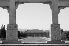 Great Stone arch and Great Red Gate in the Eastern Royal Tombs o Royalty Free Stock Photos