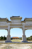 Great Stone arch and Great Red Gate in the Eastern Royal Tombs o Stock Photography